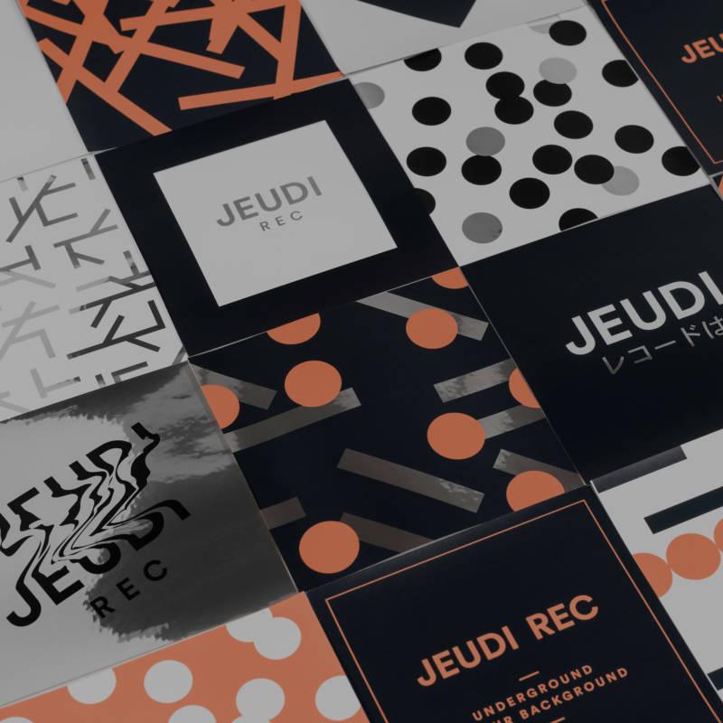 JEUDI Rec Sticker Set