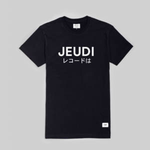 Jeudi Rec T-Shirt Logo Japan Black
