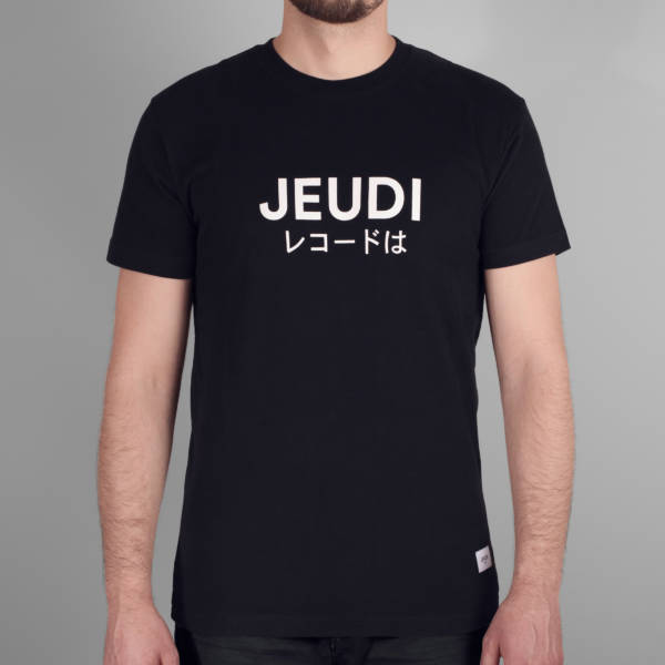 Jeudi Rec T-Shirt Logo Japan Black