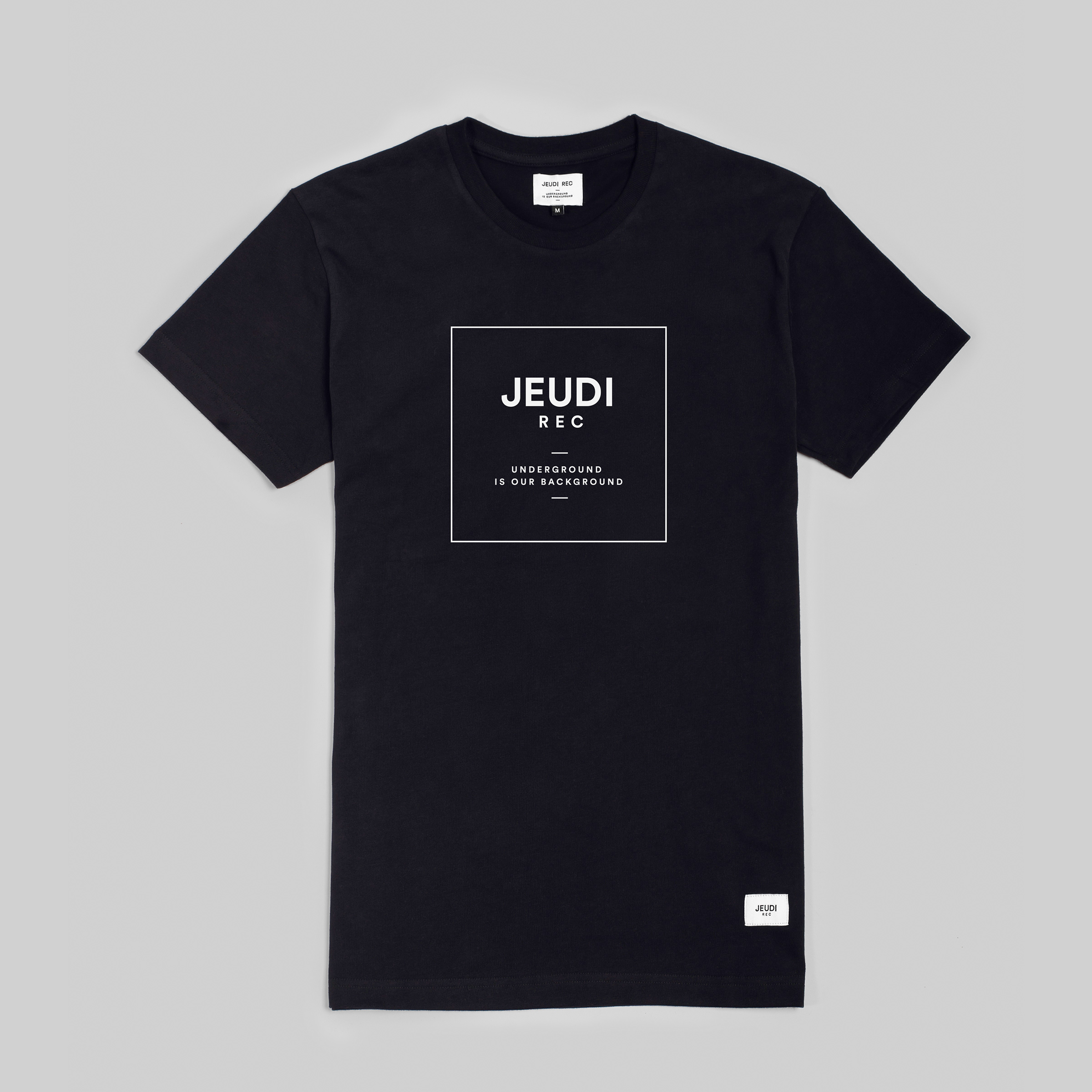 Jeudi Rec T-Shirt Logo Boxed Black