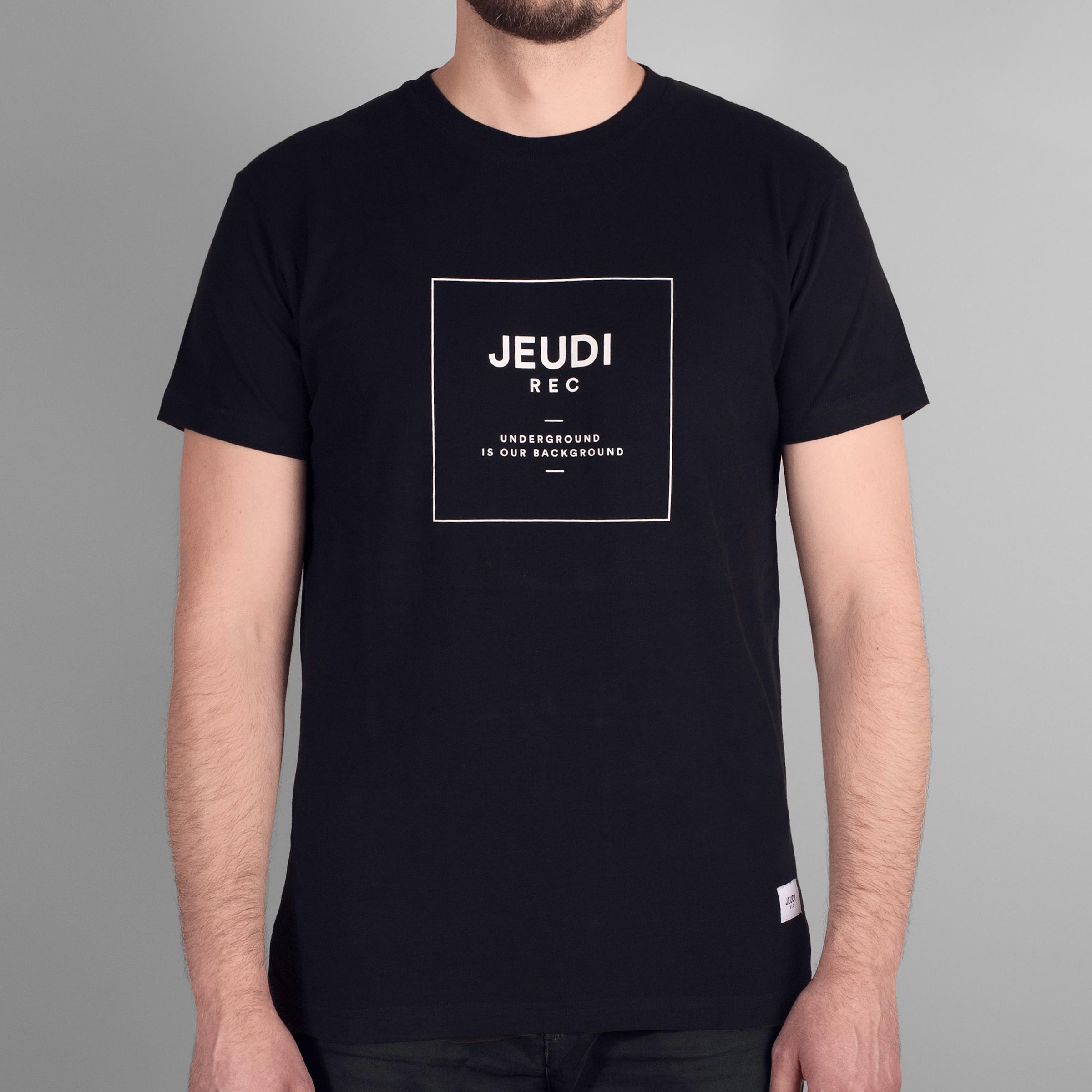Jeudi Rec T-Shirt Logo Boxed Black
